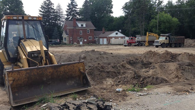 Earthwork has begun on the 304 River Edge Apartments in the 300 block of West Grand River Avenue in Williamston. The building will be just east of the River House Bar & Restaurant, which is shown in the background.