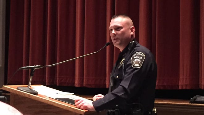 West Lafayette Patrolman Marcus Slifer received the 2016 Officer of the Year award during Monday's city council meeting.