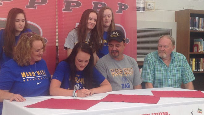 Pisgah senior Maddie Webb has signed to play college basketball for Mars Hill.