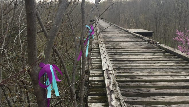 The public is invited to a community trail walk in Delphi to the Monon High Bridge. The hike is in remembrance of Liberty German and Abby Williams, who were killed Feb. 13. The bridge was one of the last places they were before they encountered their killer.