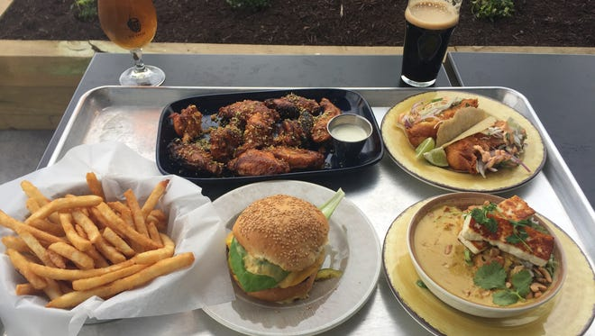 Various eats and drinks at Big Grove Brewery and Taproom in Iowa City on April 25, 2017.