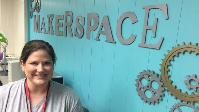 Christy Diehl, a media specialist at Lafayette Jefferson High School, used a $10,000 grant from the SIA Foundation to create a makerspace in the school's library.