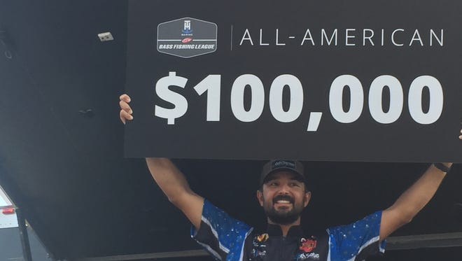 Bossier City's Nick LeBrun wins the BFL All-American on Saturday.