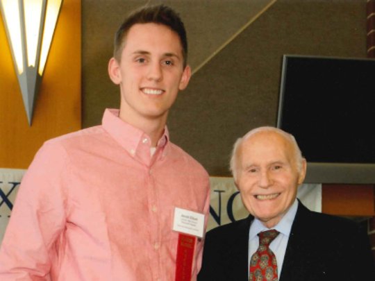 Jacob Elliot with Herb Kohl