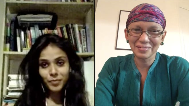 Meena Kandasamy and Karthika Naïr speak about domestic violence during a virtual event as part of the Brookline Booksmith's Transnational Literature Series.