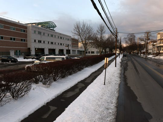 North Hamilton Street near the Dutchess County Jail, left, is one of the former locations of the Smith Brothers company.