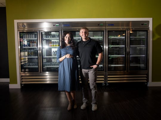 Karissa Estrada and Wyatt Mace are the owners of Nutrifit Meals in Farmington.