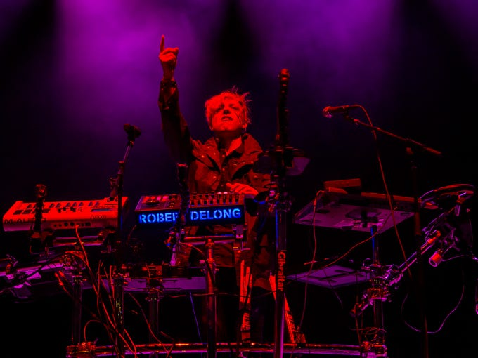 Robert DeLong performs on the Backyard Stage at the