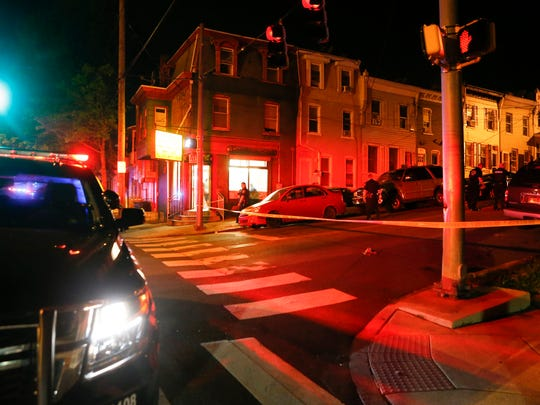 Wilmington police investigate an apparent shooting on N. Rodney Street near the intersection with W. 4th Street, reported shortly after 11:30 pm Wednesday.