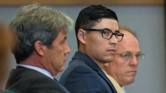 Former Santa Fe County Sheriff's deputy Tai Chan appears in 3rd Judicial District on Wednesday, May 25, 2016, during the 3rd day of his trial. Chan is accused of murdering a fellow deputy at Hotel Encanto de Las Cruces in 2014.