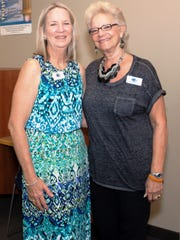 Eileen Forest, volunteer, and Maria Roberts, assistant