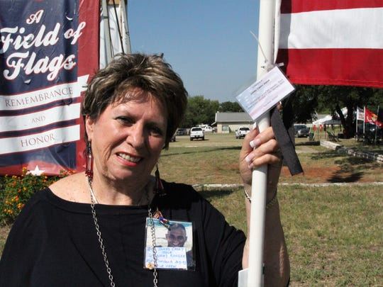 "Gold Star mom Gail Joyce remembers her son with her ""A Field of Flags"" effort"
