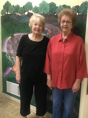 Pictured are Diane Throckmorton, hairdresser and Diane Meek, owner and stylist at Cameo Beauty Salon. Missis is stylist Christy Guy-Kitzmann.