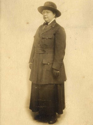This image of Nurse Weller is taken from a postcard sent to a relative in Louisville July 8, 1918
