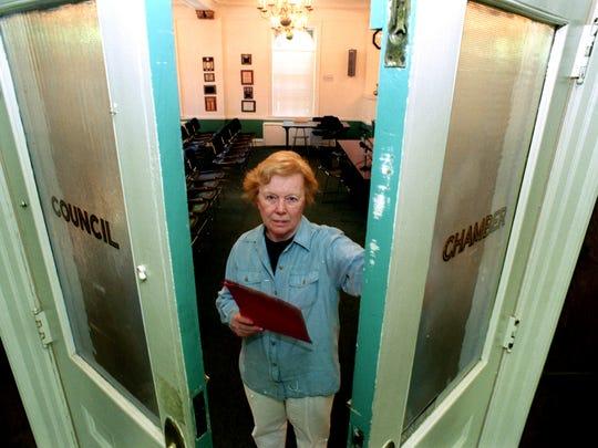 Eleanor Kieliszek at the Teaneck Council Chamber.