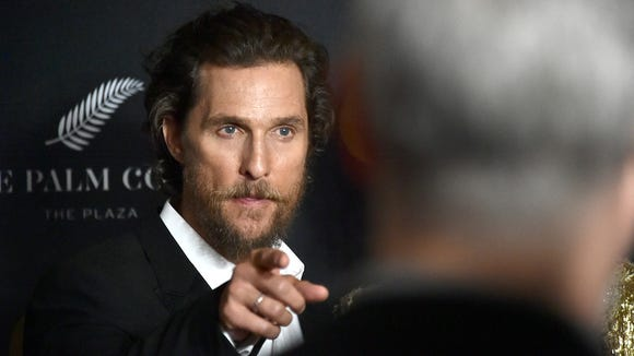 Matthew McConaughey is one of the most famous people named Matthew.