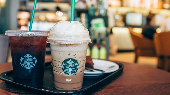 Starbucks' Happy Hour on Sept. 27 brings a buy-one-get-one free deal on espresso drinks and Frappuccinos.