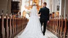 20. Wyoming   • Cost of typical wedding:  $27,003   • Number of weddings in 2017:  4,235 (the fewest)   • Average dress cost:  $1,199 (21st highest)   • Average ring cost:  $3,257 (24th highest)   • Median household income:  $59,143 (17th highest)