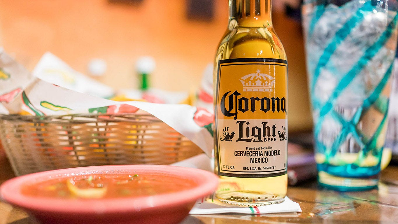 what is the percentage of corona extra