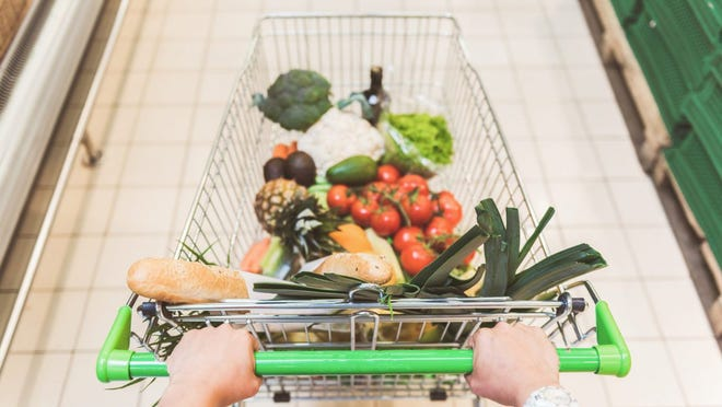 According to the Bureau of Labor Statistics' Consumer Expenditure Survey, Americans spent about $566 billion on groceries in 2017, up from $524 billion the year before.