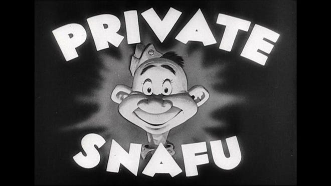 Private Snafu was the star of humorous instructional cartoons Geisel drew while he was in the Army during World War II.