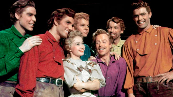 """Jane Powell, center, stars in 1954's """"Seven Brides for Seven Brothers."""""""