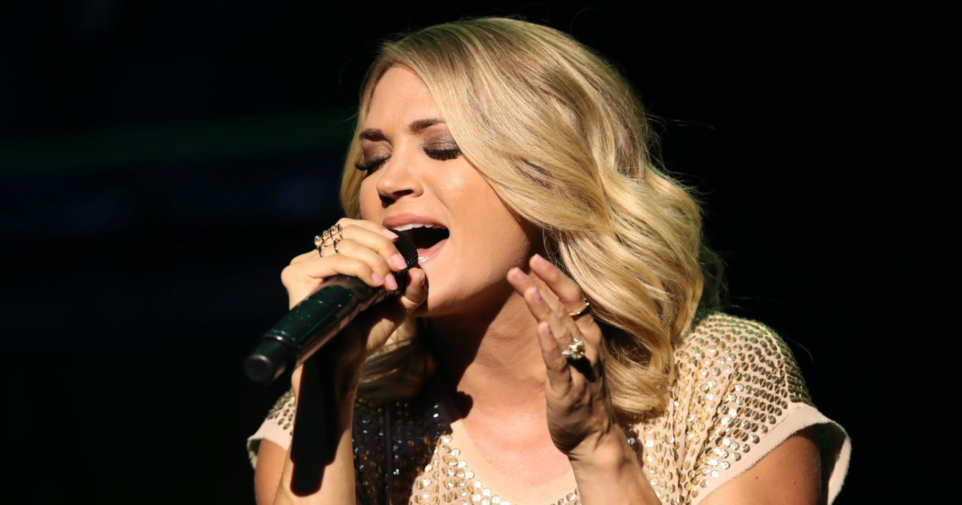 Carrie Underwood hilariously sings 'Happy Birthday' to her son after inhaling helium