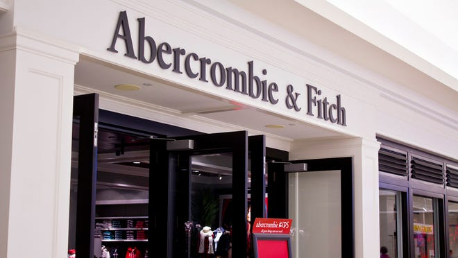 The front of an Abercrombie & Fitch store.