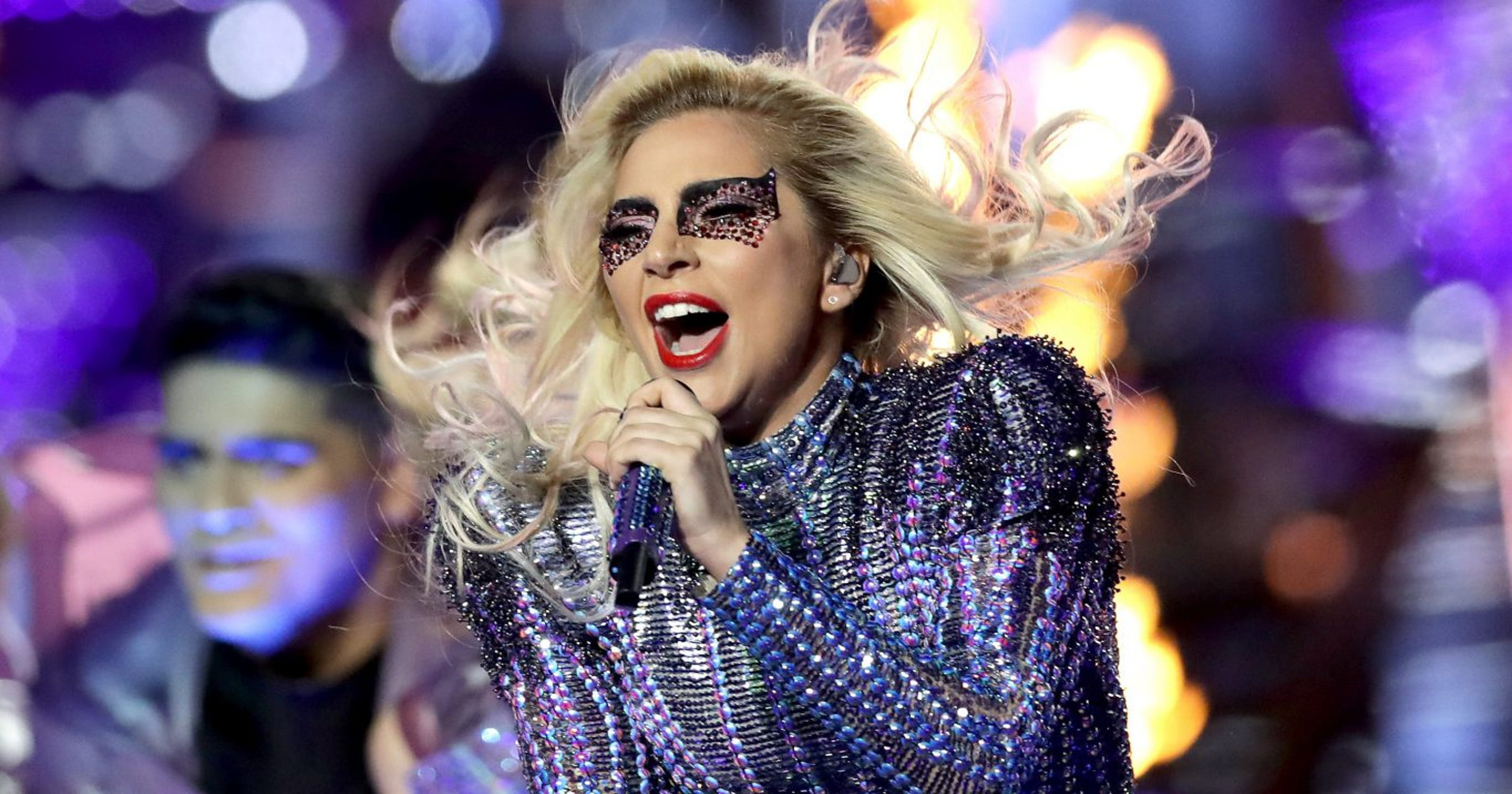 Lady Gaga takes advice from her own music after tumble off stage: 'Just Dance. Gonna be ok'