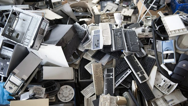 E-waste consists of electronics that no one wants anymore.