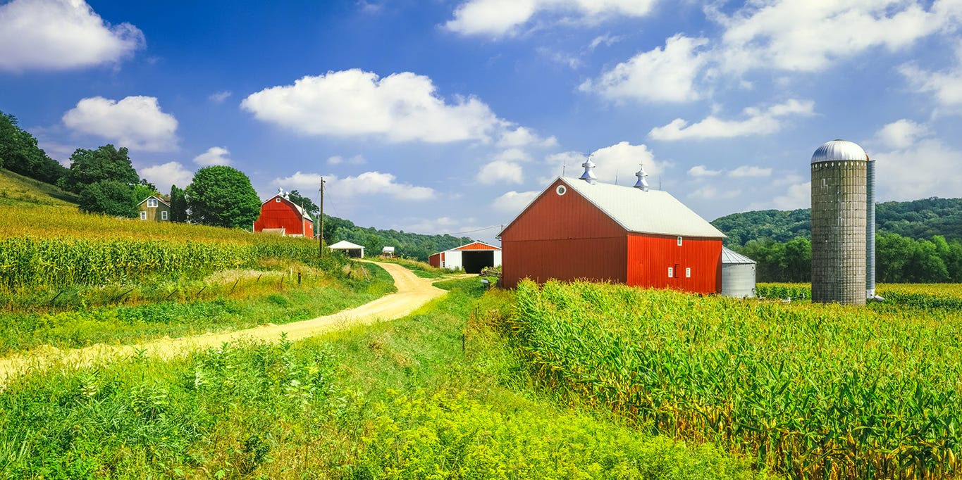 Land Values In Each Of The Contiguous 48 States Vary Widely Per Acre
