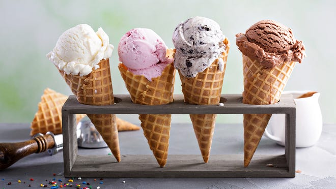 """In an earlier era, choosing an ice cream flavor was easy. The standard options were vanilla, strawberry, and chocolate, and sometimes a slab of Neapolitan -- which was a banded combination of all three. Exotic flavors were things like peppermint stick, rocky road, maybe pistachio. Classics like these remain greatly appreciated at  the most popular ice cream shops around the U.S . Today, however, thanks to improved technology and expanding tastes, there seems to be no limit on what ice cream can be flavored with. Almost any variety of cookie, cake, or pie (or cake or cookie dough) has been worked into ice cream. Contemporary ice cream parlors infuse their offerings with green tea, exotic tropical fruit juices, even beer. The more adventurous (or those with more adventurous customers) produce ice cream flavored with anchovies, mustard, and garlic.  Major commercial producers like Baskin-Robbins, Ben & Jerry's, and Häagen-Dazs and their competitors, meanwhile, have teams working non-stop to develop new and unusual -- though not necessarily anchovy-level -- flavors to entice their customers. At the same time, these companies retire many of their earlier creations, due to disappointing sales or changing corporate strategies or sometimes just in an effort to keep their product line fresh. Ben & Jerry's even has an actual  Flavor Graveyard , a park-like setting with headstones commemorating their """"dearly de-pinted"""" ice creams.  Some discontinued ice cream flavors, though, are just too good to bury. Summoning up fond memories of discontinued frozen treats, 24/7 Tempo has assembled a list of ice cream flavors we miss, from eight major producers -- flavors we wish would come back. There are some treats still alive --  these are the most iconic frozen treats in each state ."""