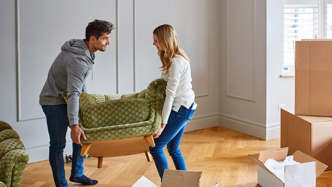 Cities were ranked based on the average estimated cost of professional mover fees to move household goods, in addition to median monthly rent and a security deposit.