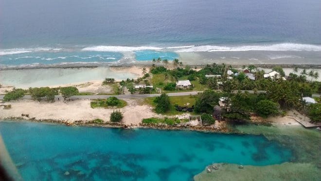 21. Majuro, Marshall Islands   • Annual average precipitation (22 yrs):  124.9 inches   • Rainiest year in database:  2018, 171.7 inches   • Rainiest month on average:  October, 13.4 inches Majuro is the capital of the Republic of the Marshall Islands and has an estimated elevation of just 3 meters (about 10 feet) above sea level. It usually rains there in short, forceful downpours with average precipitation peaking in October.     ALSO READ: Cities Around the World That Will Soon Be Underwater