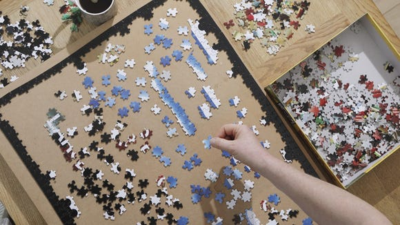 Puzzles are a great solo or group activity.