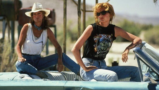 9. Thelma & Louise (1991)     • Starring:  Susan Sarandon, Geena Davis, Harvey Keitel     • Runtime:  130 min     • Rating:  R     • Recently added to:  Amazon Prime Video on April 30, 2020 This Ridley Scott-directed road movie about two female friends on the lam in the American West won an Oscar for Best Writing in 1992. A cast including Susan Sarandon, Geena Davis, Harvey Keitel, Christopher McDonald, and Brad Pitt helped bring that writing to life. The film received positive reviews from 84% of critics and 82% of viewers on Rotten Tomatoes.