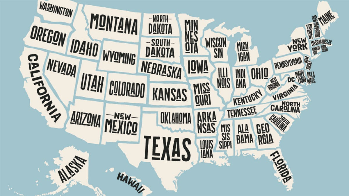 Map of 50 states
