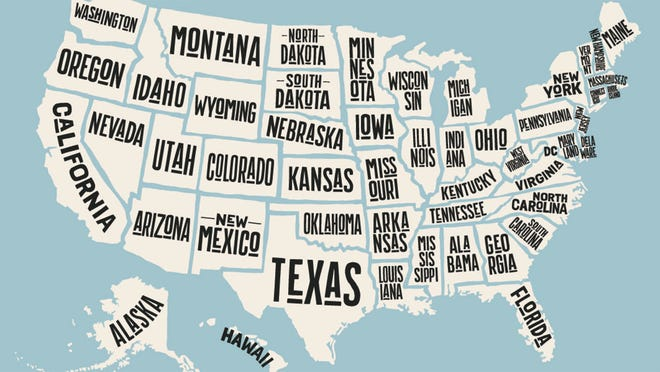 Us Map With States Named How each state got its name: Half of them from Native American origins