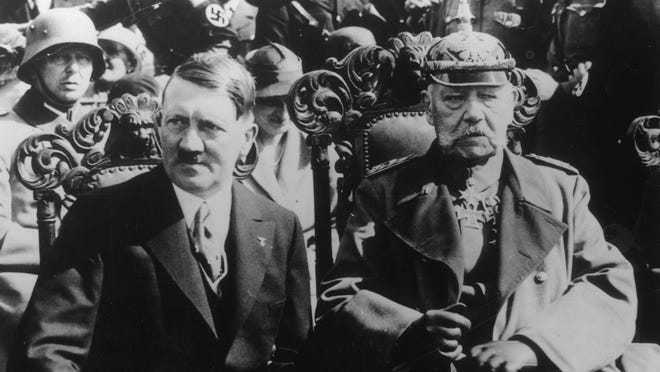 In 1933, Adolf Hitler is appointed chancellor of Germany. After President Paul von Hindenburg dies in 1934, Hitler then purges members of his own party — the bloody Night of the Long Knives — with the help of Nazi storm troopers and becomes the unquestioned leader of Germany. FILE PHOTO/USA TODAY