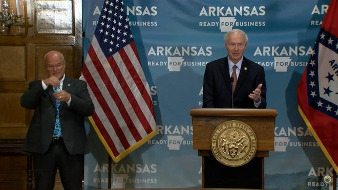 Gov. Asa Hutchinson expressed respect for those who disagreed with the statewide mask mandate, but stood by his decision.