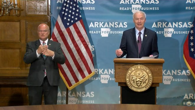 Gov. Asa Hutchinson continued giving his daily briefing on COVID-19.