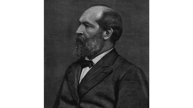 James Abram Garfield.