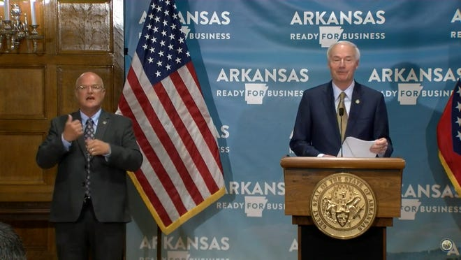 Gov. Asa Hutchinson announced that long term care facilities will be able to start to receive visitors on July 1.