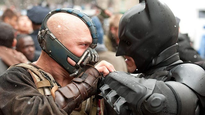 """Directed by Christopher Nolan, the 2012 """"The Dark Knight Rises"""" capped a trilogy starring Christian Bale, Tom Hardy and Anne Hathaway. Bale reprised his role as Batman."""
