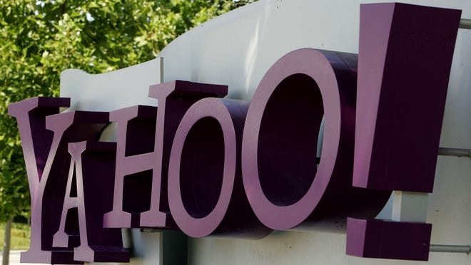 A sign for Yahoo!