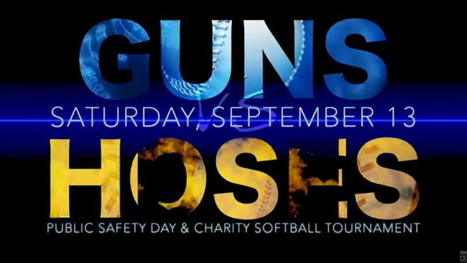 The first annual Guns vs. Hoses charity softball game between fire fighters and law enforcement will be held Sept. 13 at Bayfront Stadium