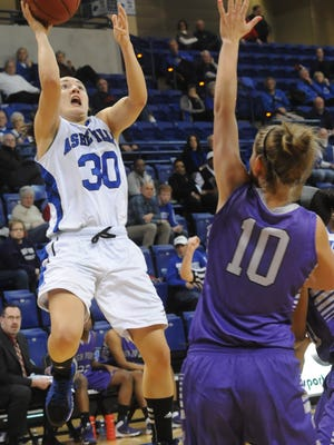 Paige Love is a returning starter for the UNC Asheville women's team.