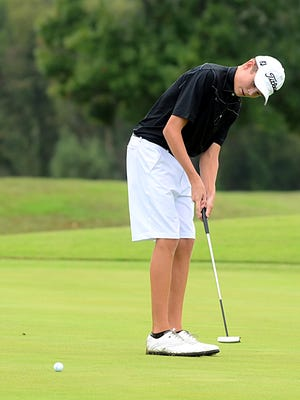 Hendersonville junior Bryce Lewis is tied for seventh after Tuesday's first round of the Class AAA golf tournament.
