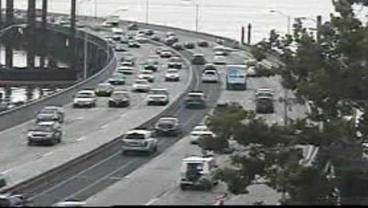 Traffic getting onto the Tappan Zee Bridge in Rockland