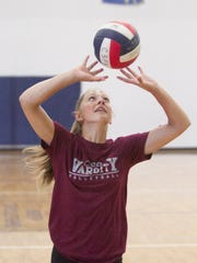 Paige Gallentine of Charyl Stockwell Academy was all-state in volleyball and track and field.
